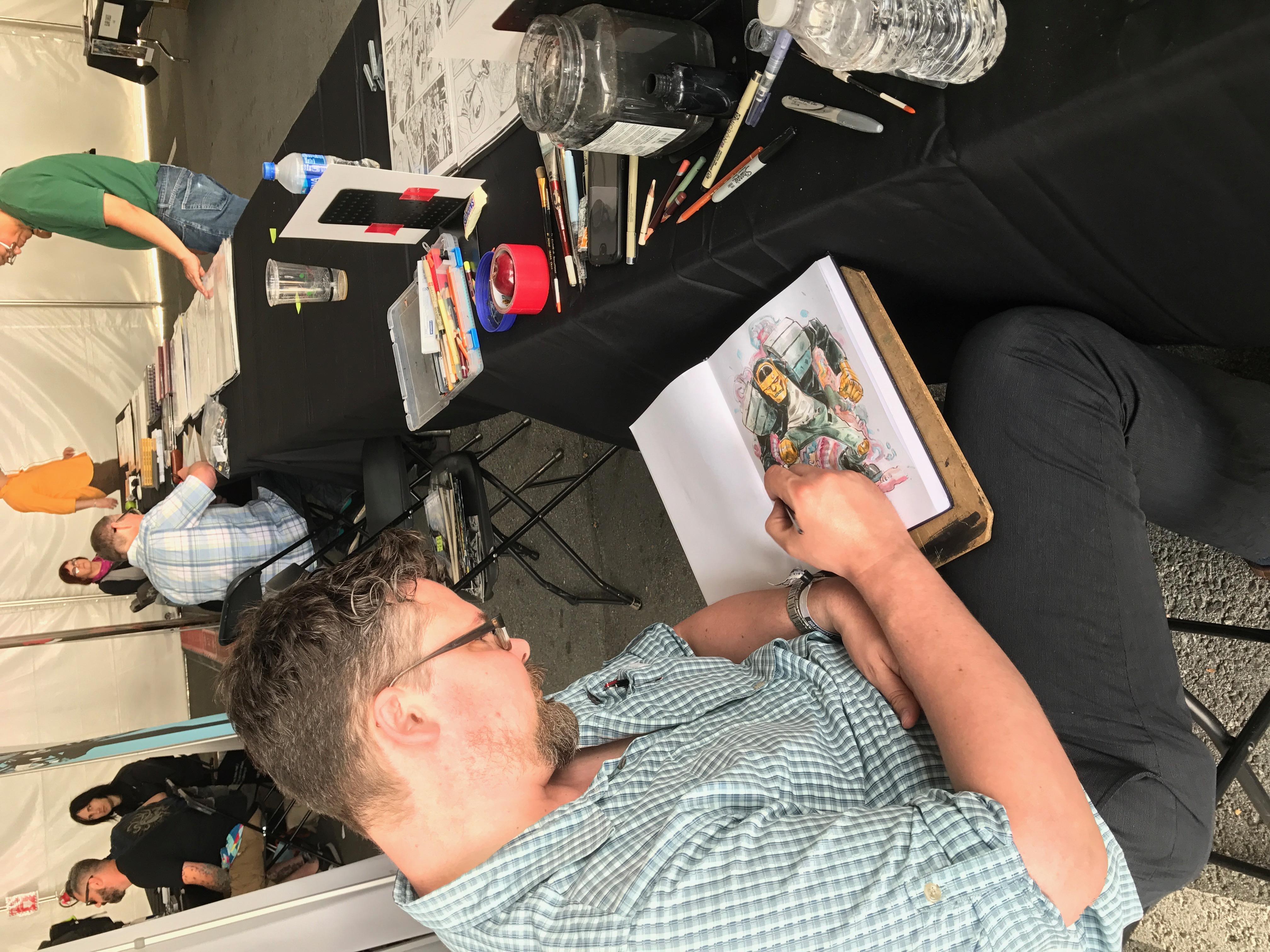 Tom Fowler Sketching